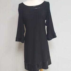 Tiana B Women's black mosaic detail dress